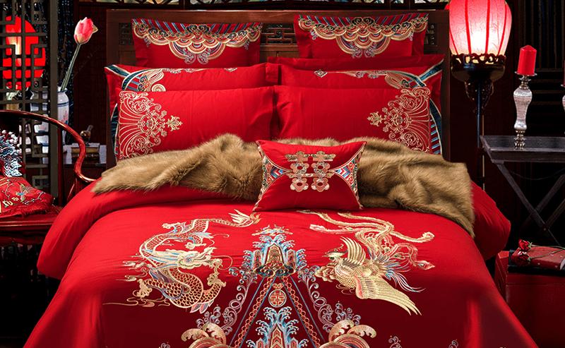 Parure de lit style asiatique