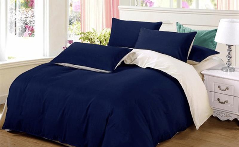 Parure de lit bleue