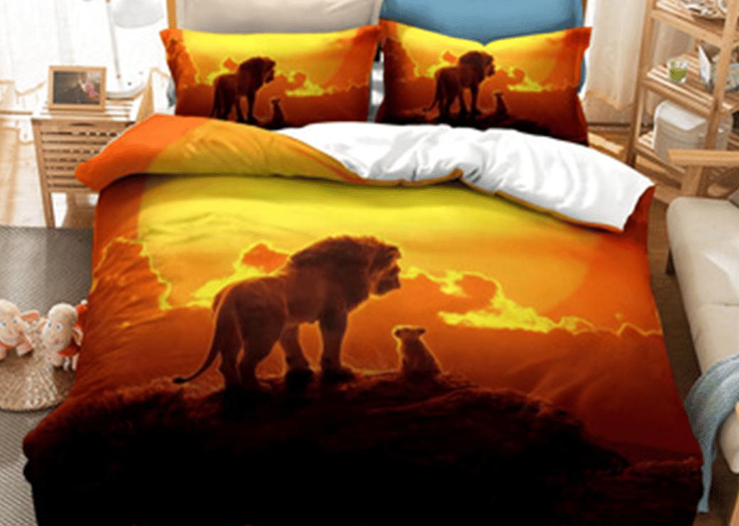 couché de soleil roi lion