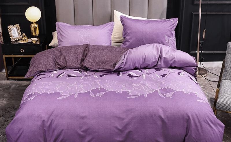 Parure de lit violette