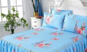 Couvre-lit-fleuri